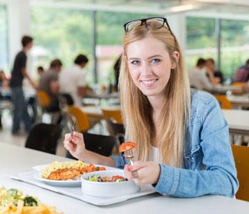 Manger sain quand on est étudiant